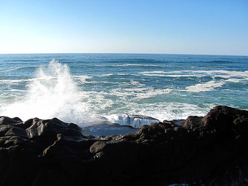 Waves of Boiler Bay, Depoe Bay area