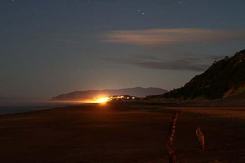 Lincoln Beach At Night Central Oregon Coast Near Depoe