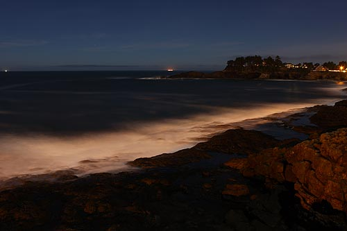 Depoe Bay looks like something from an alternate universe at night)