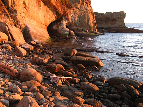 Otter Rock's beach, next to Devil's Punchbowl