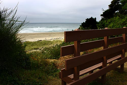 Bench at the overlook, Lincoln City
