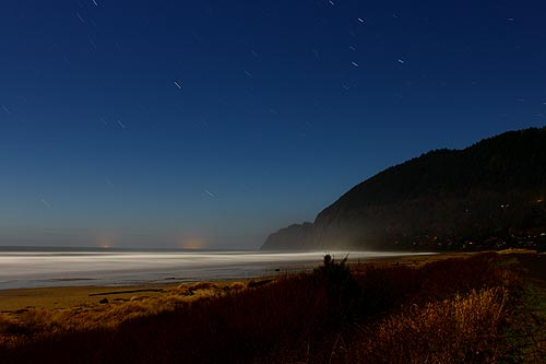 moonlight and stars above Manzanita