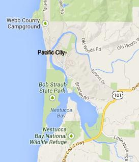 Map Of Pacific City Oregon Three Capes Virtual Tour, Maps   Pacific City, Oceanside, Netarts