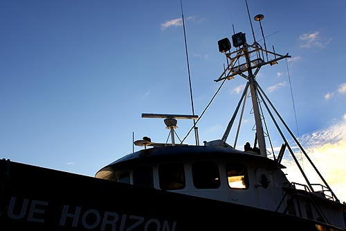 Photo: fishing boats at Newport's Yaquina Bay