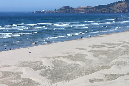 Nye Beach With Yaquina Head In The Background Virtual Tour Of Newport Oregon Coast