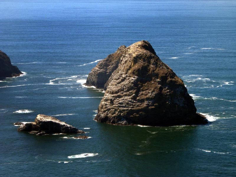Oceanside's Three Arch Rocks, from Above, National Refuge