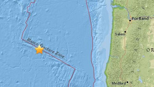 Minor Quake Off Oregon Coast Rattles Only Sensors, No Tsunami Alert