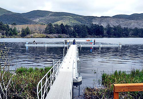 Rockaway Beach Oregon This Saay Marks The Grand Opening Celebration For A Brand New Fishing Dock On Lake Lytle In North Coast Town Of