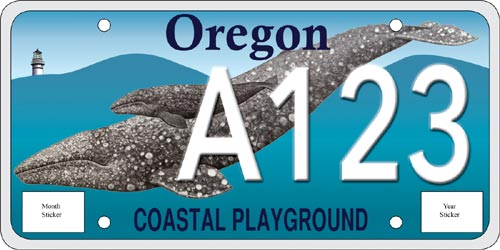 New Oregon Coast Gray Whale License Plates Needs Commitments