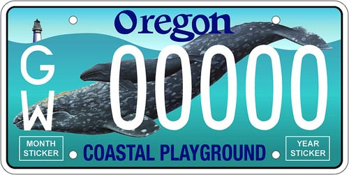 Release of Oregon Coast Whale License Plates Depends on Public