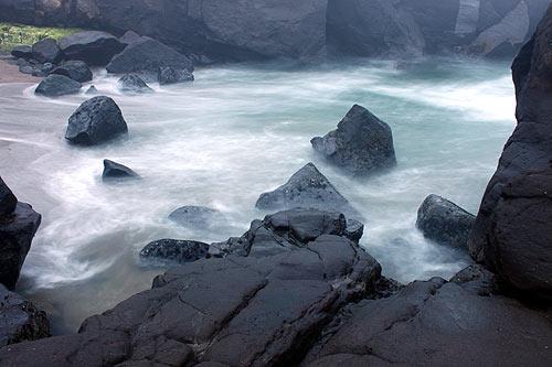 misty seas along Yachats shoreline
